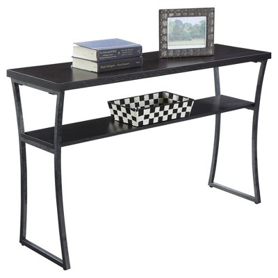 X - Calibur Console Table - Espresso - Convenience Concepts, Brown