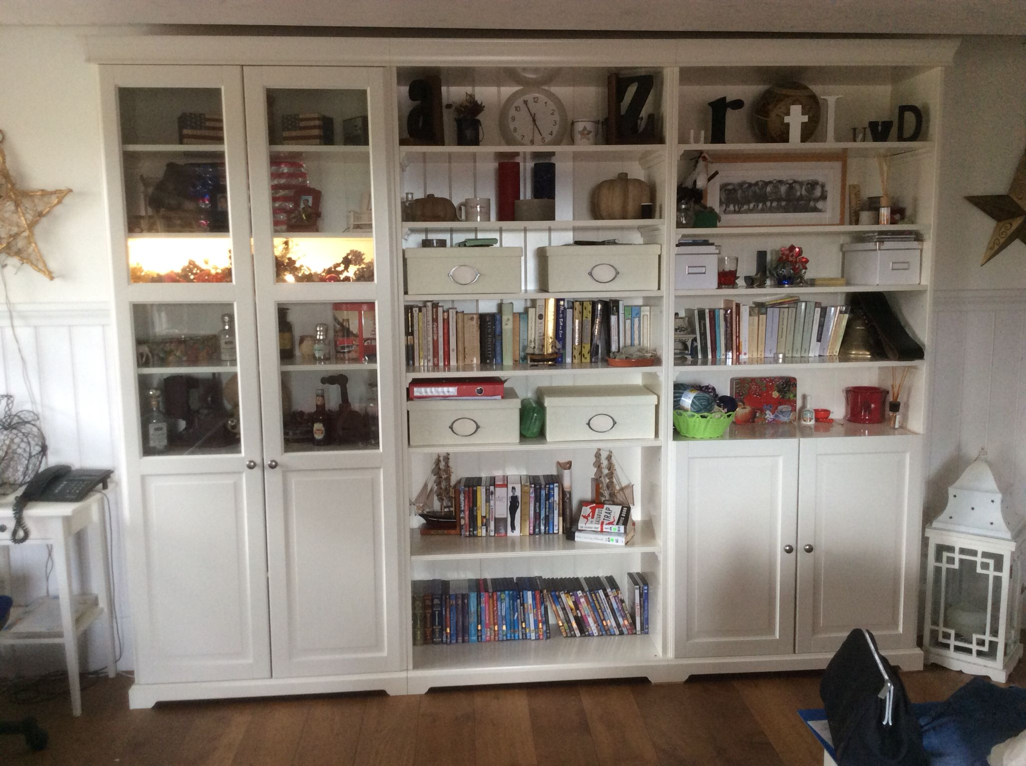 Built In Ikea Liatorp Shelving Units At Home Love What My Dh Did