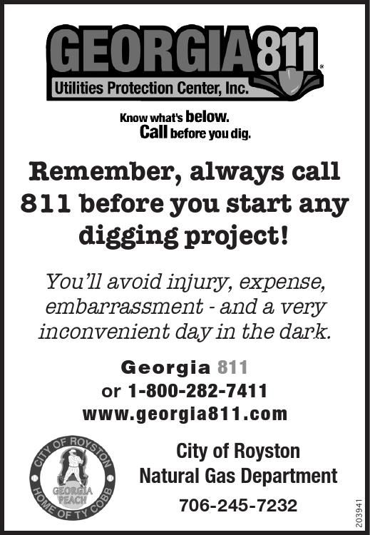 Know What S Below Call Before You Dig Remember Always Call 811