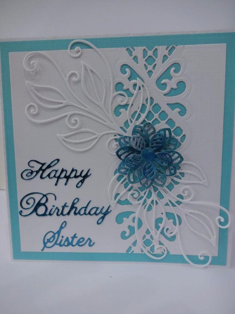 Handmade birthday card - Sister | Party ideas | Pinterest ...