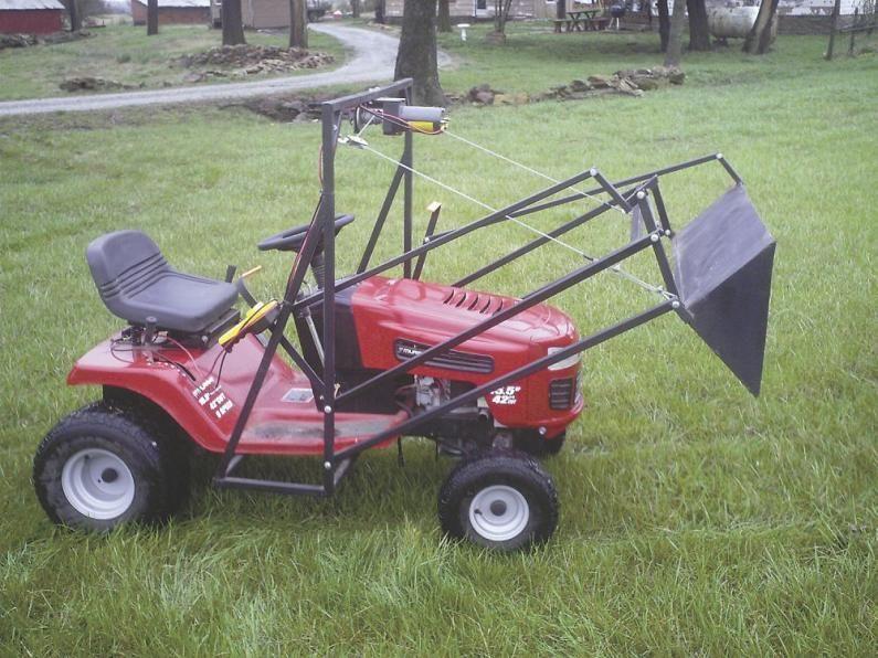Farm Show High Lift Mini Loader Fits Garden Tractor Garden Tractor Tractors Riding Mower Attachments
