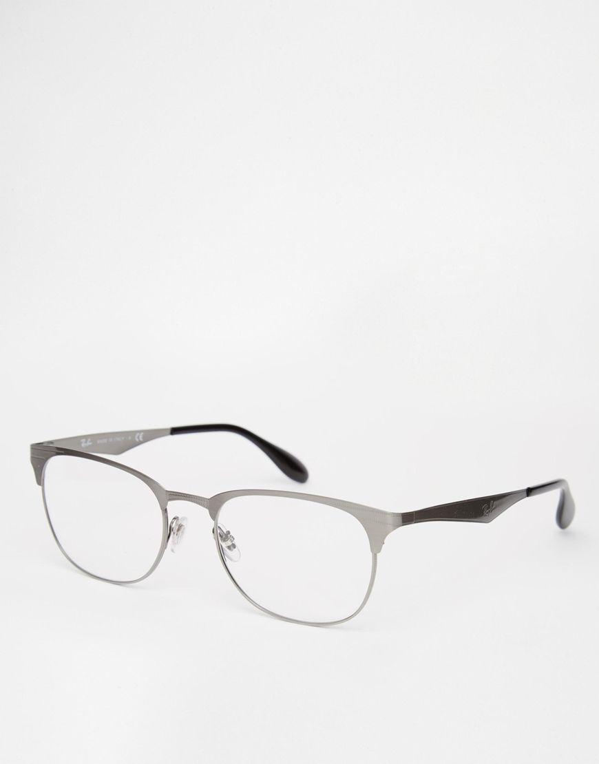 Sonnenbrille von Ray-Ban eckiger Rahmen und Logonieten verstellbare ...