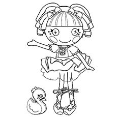 lalaloopsy coloring pages free printables - Ballerina Printable Coloring Pages