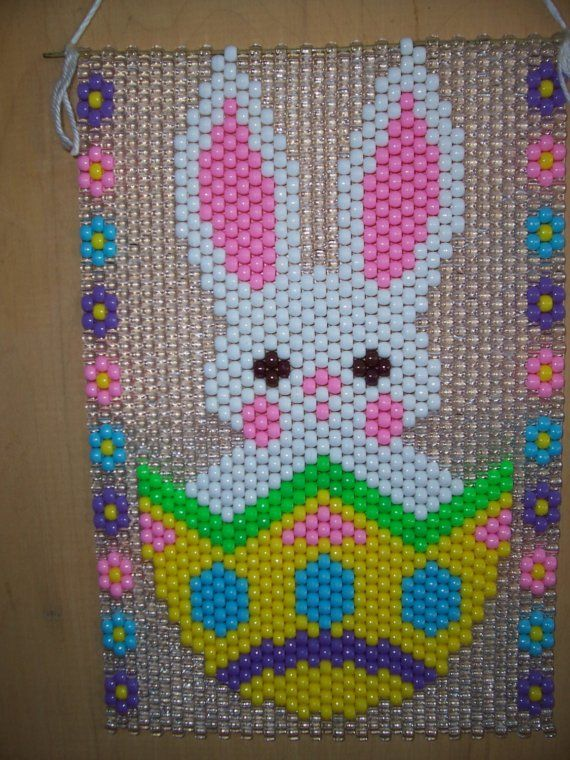 Easter Bunny Beaded Banner by CraftingAddiction on Etsy