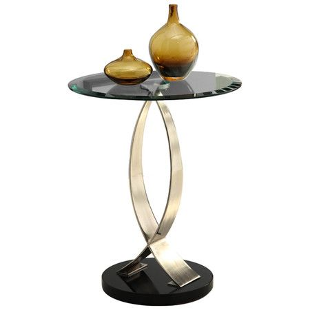 Found it at Wayfair - Chrome & Glass End Table