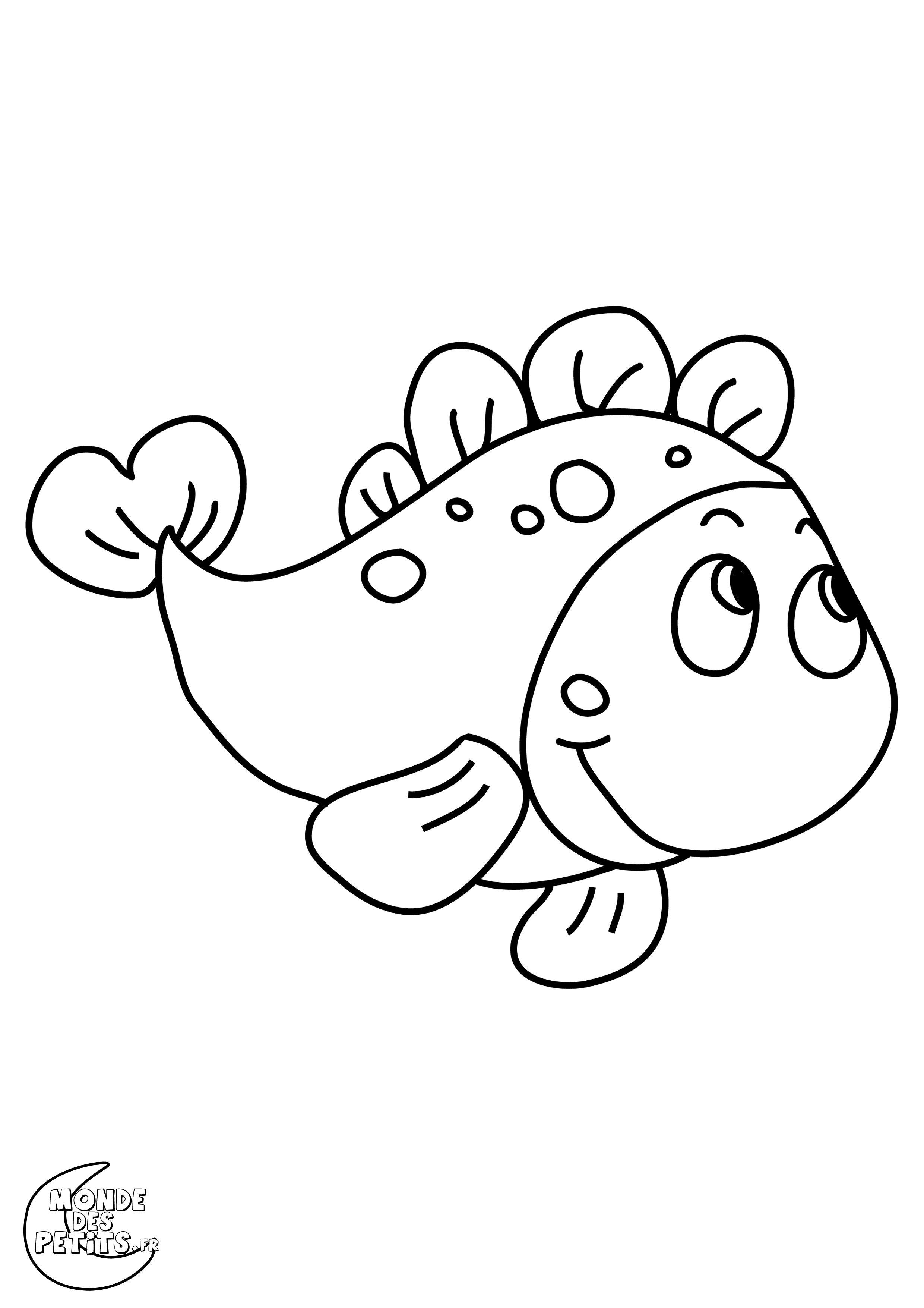 Coloriage poisson colorier dessin imprimer animaux - Image de poisson a imprimer ...