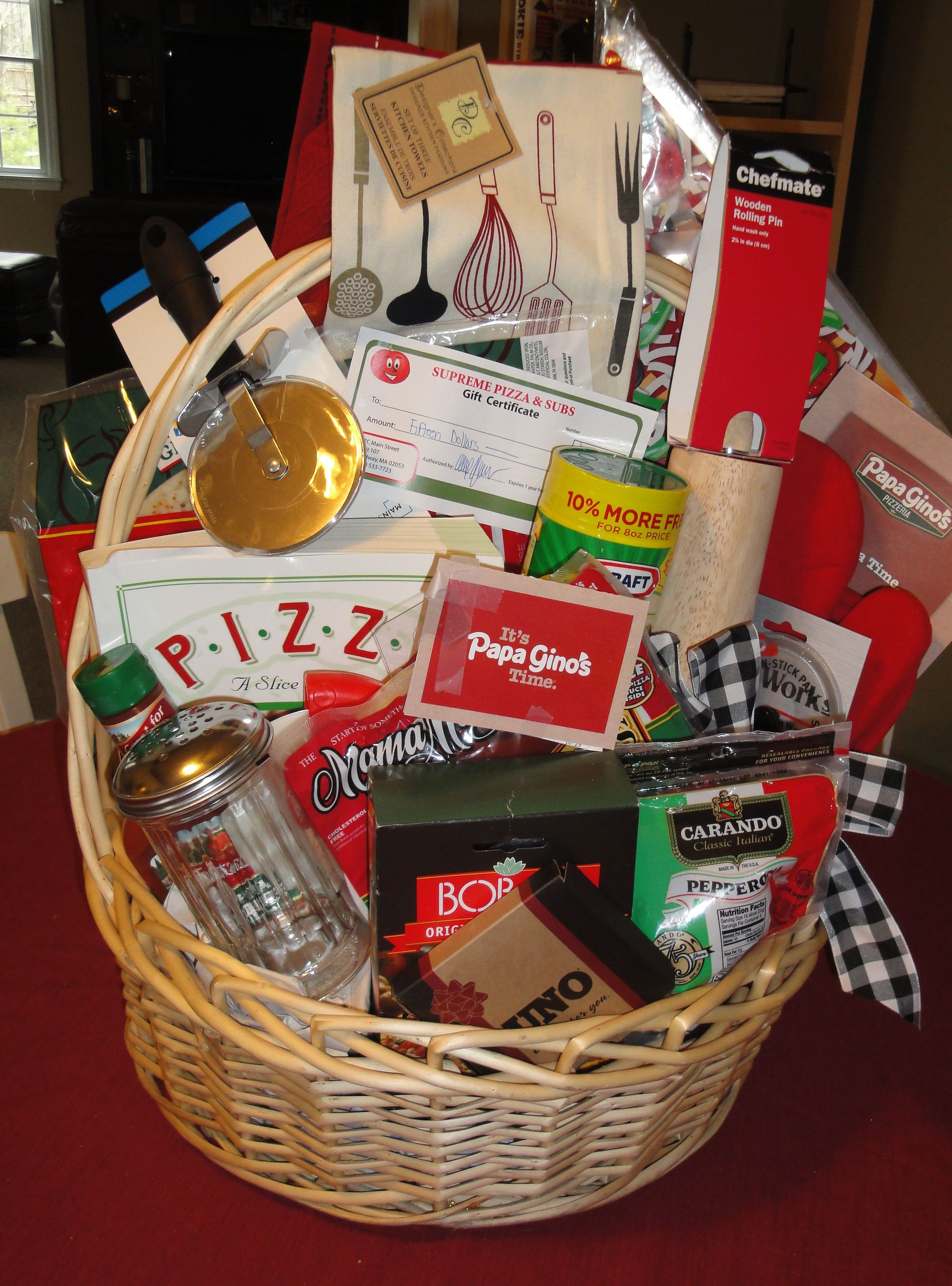 The Pizza Party Basket 2011 Raffle Basket Raffle Baskets Silent Auction Baskets