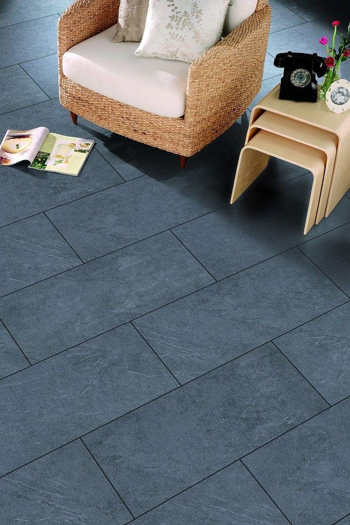 Mustang Slate Laminate Flooring | Topps Tiles | Kitchen design ...