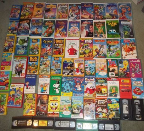 Huge Lot Vhs Tape Disney Movie Wiggles Bob Builder Sesame Street Rugrats Yugioh