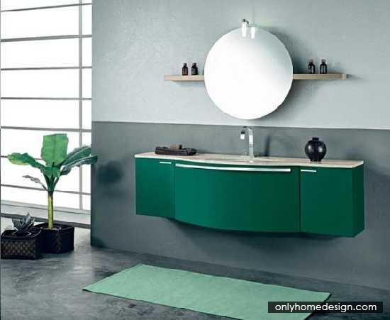 funky bathroom furniture. Enchanting Bathroom Vanity Suggestions Round Mirror With Green Themes Furniture - Http:// Funky B