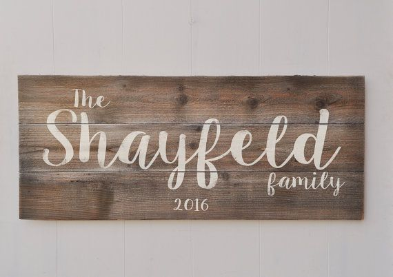 cd0b2d368db63 Large Last Name Sign | Family Established Sign | Personalized Family ...