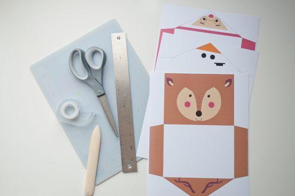 sobres papa noel reno navidad imprimible gratis (3) | Navidad ...