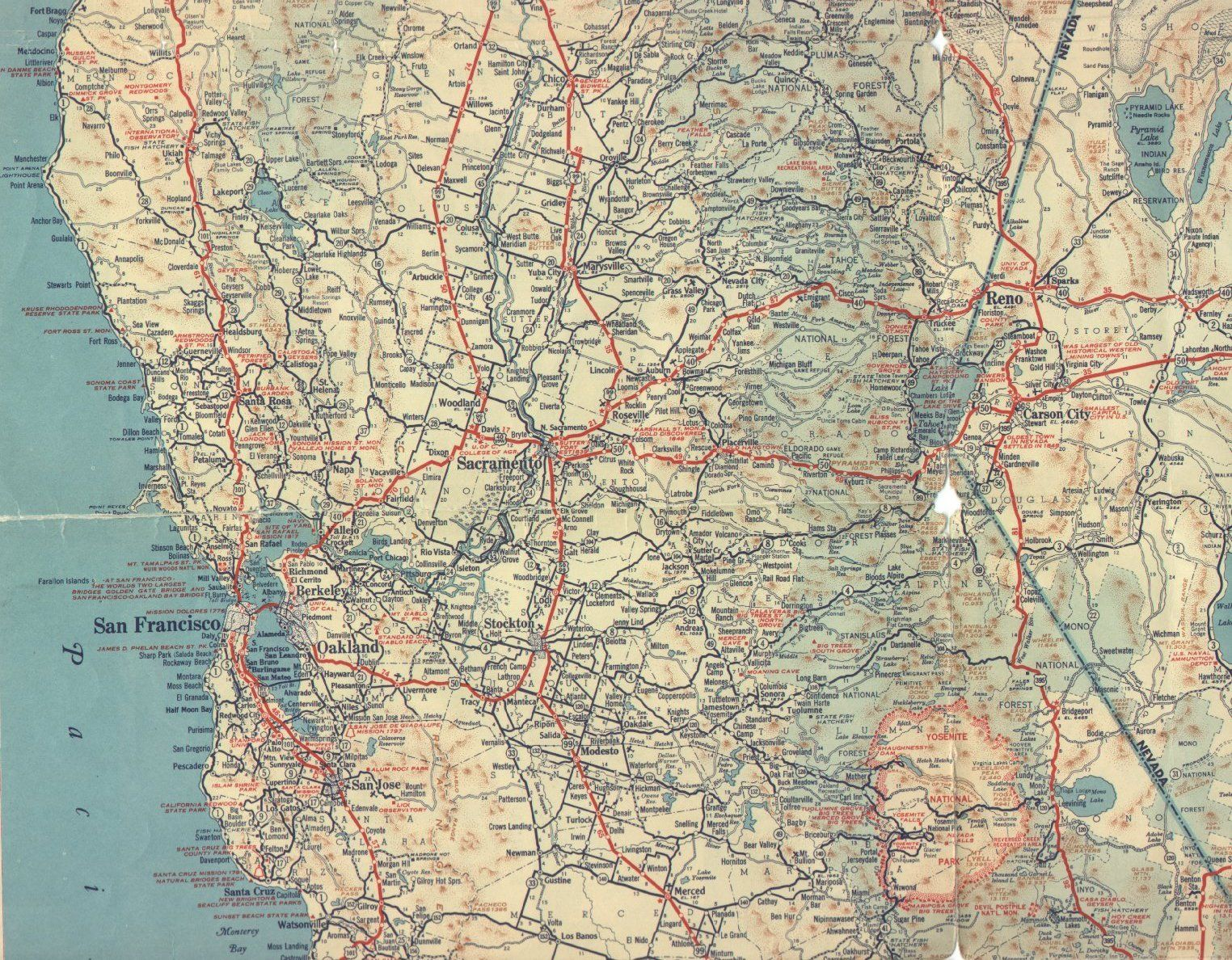 1939 North Central California | Maps of California in 2019 ...