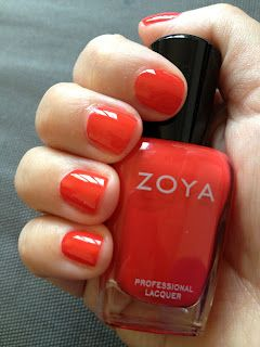 Love Short Tomato Red Nails And Eco Friendly Nail Polish Like Zoya
