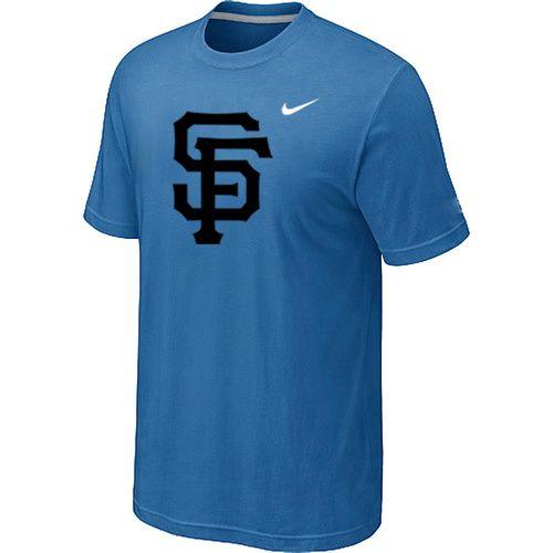 MLB San Francisco Giants Heathered light Blue Nike Blended T-Shirt ,  discount $15.99 -