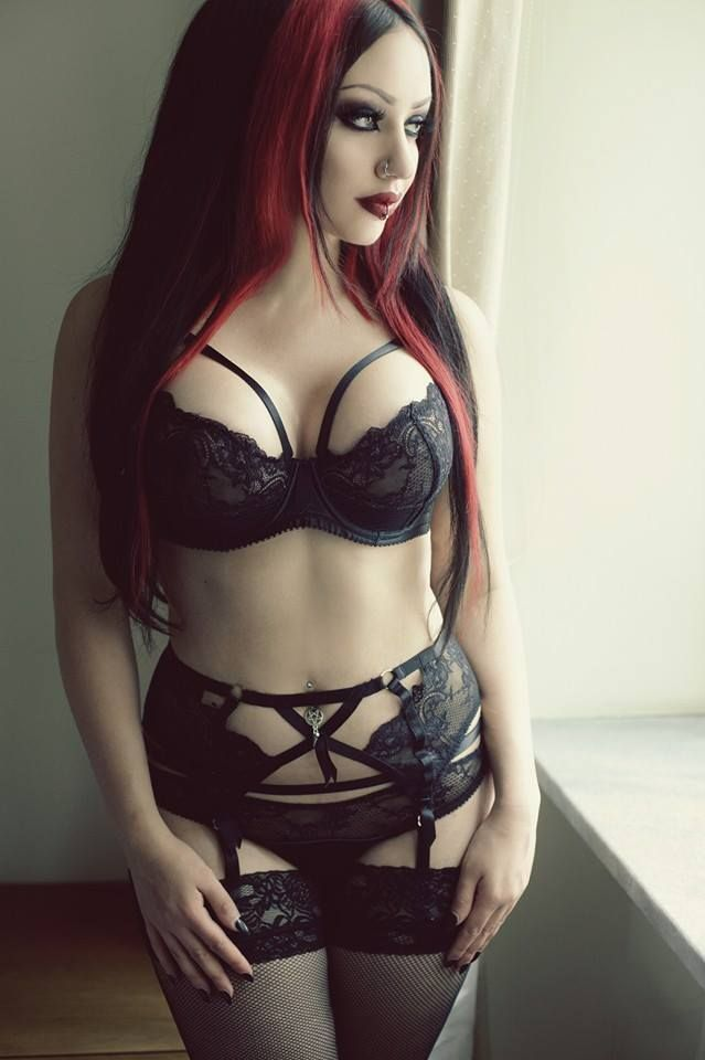 Sexy gothic lingerie