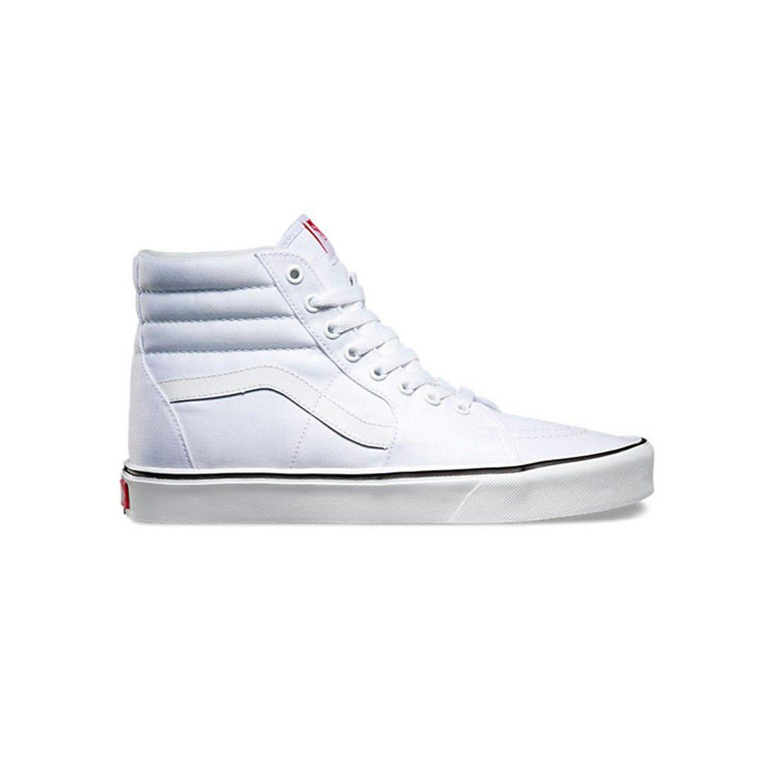 Scarpa Vans alta Sk8-Hi Lite Canvas True White