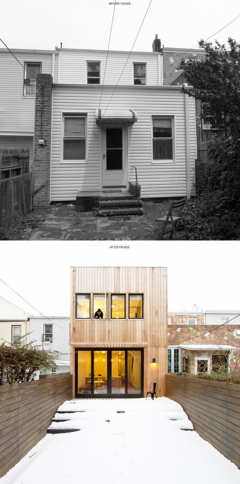 Inspiration for a large modern back porch remodel in san francisco - House Renovation Ideas 17 Inspirational Before After Projects This Old Brooklyn Row