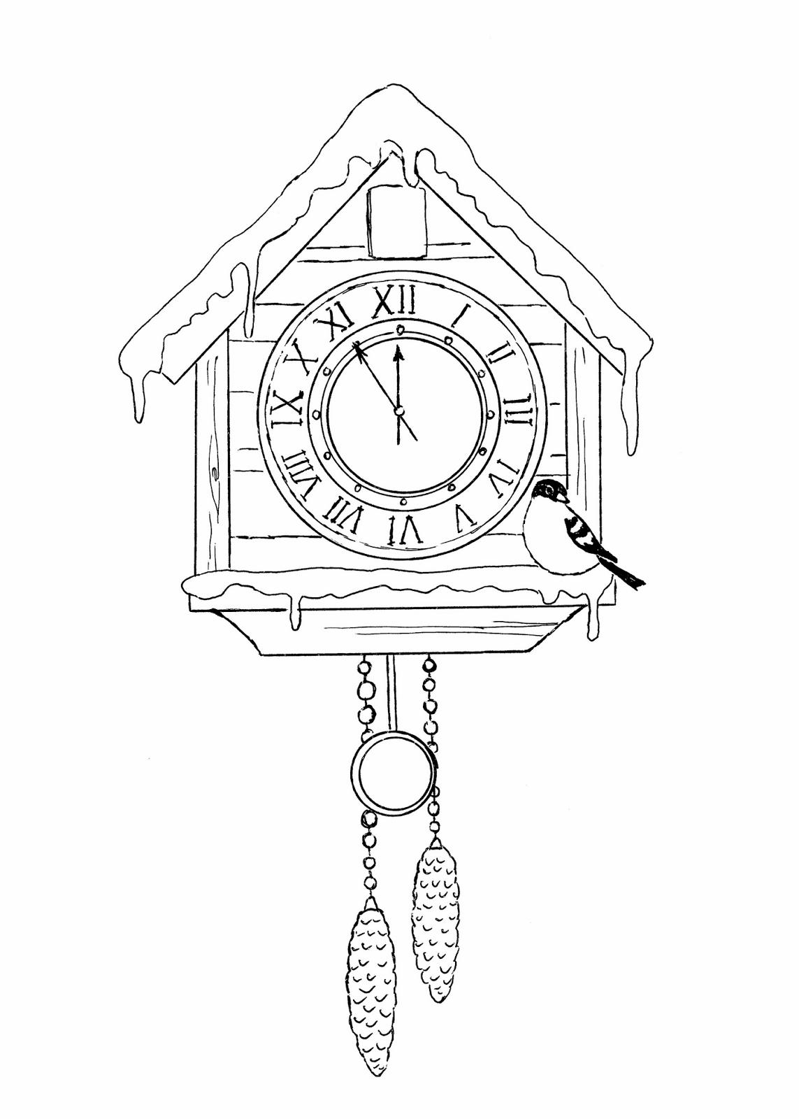 Картинка часы ходики для детей