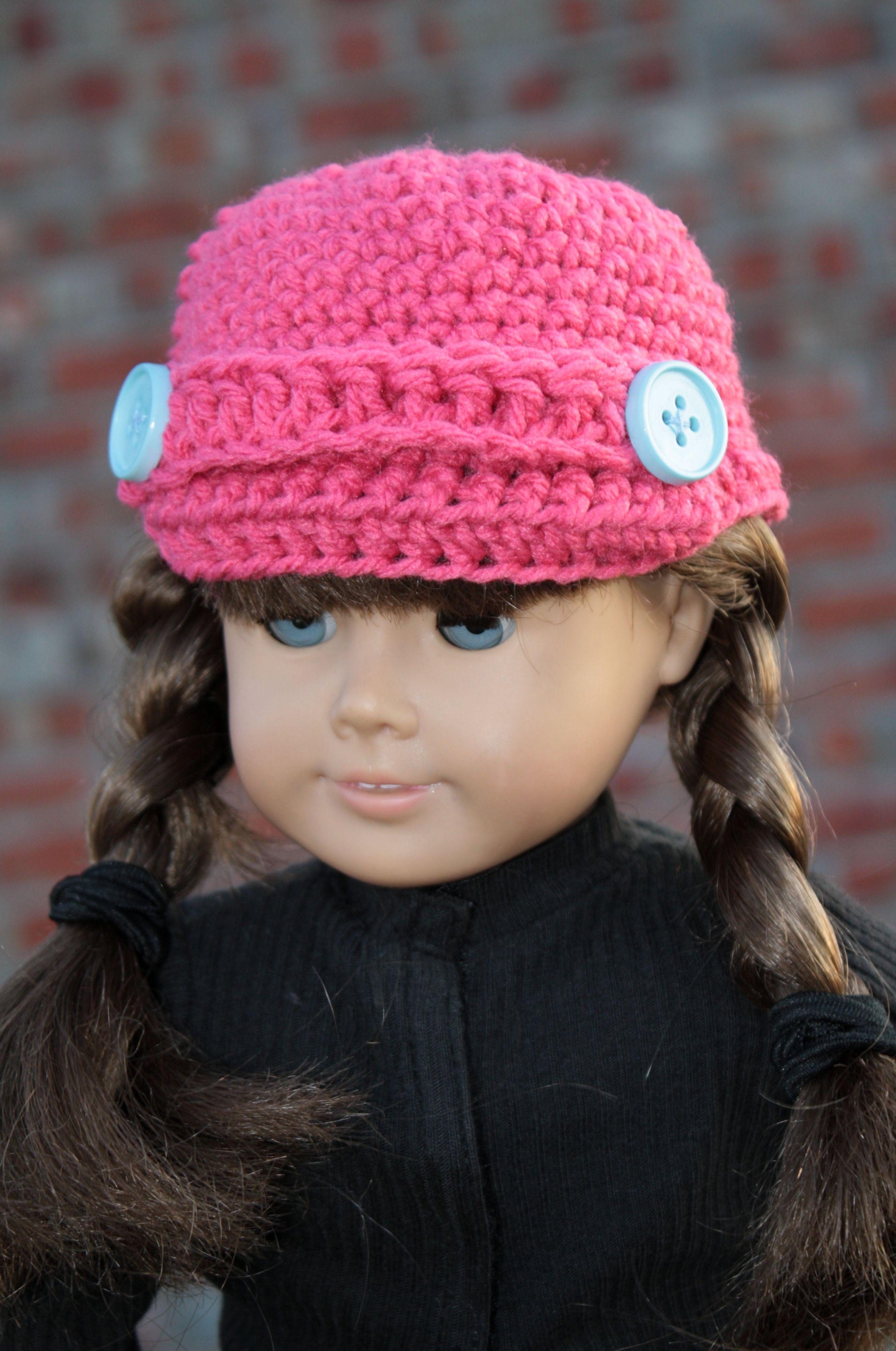 American Girl Sized Crochet Hat   American Girl Doll ...