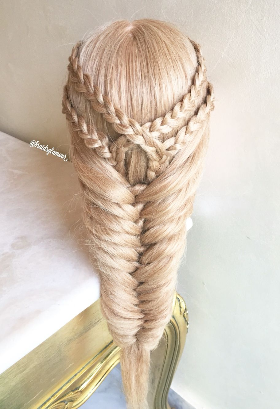 Fishtail Braid Hairstyles Extraordinary Double Braid Tieback Into Knotted Fishtail Braid  Hairstyles