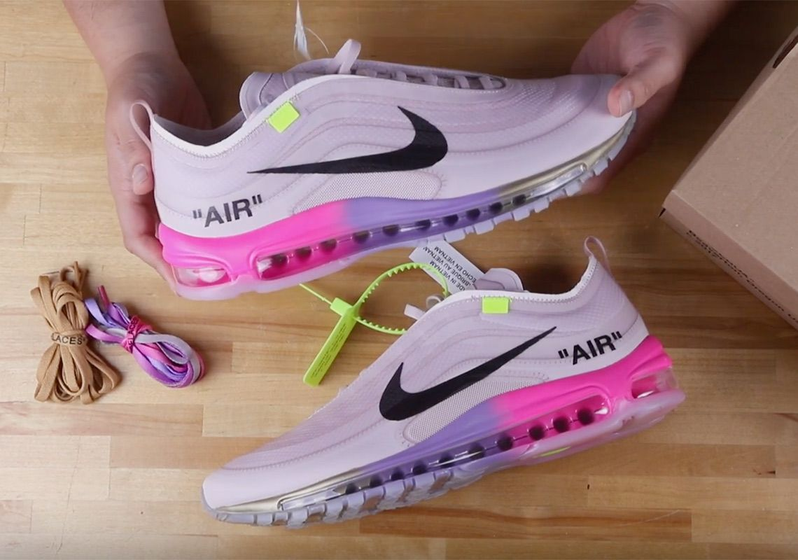 Off White Nike Air Max 97 Queen Unboxing Video Nike Air Max White Air Max 97 Nike Air Max 97