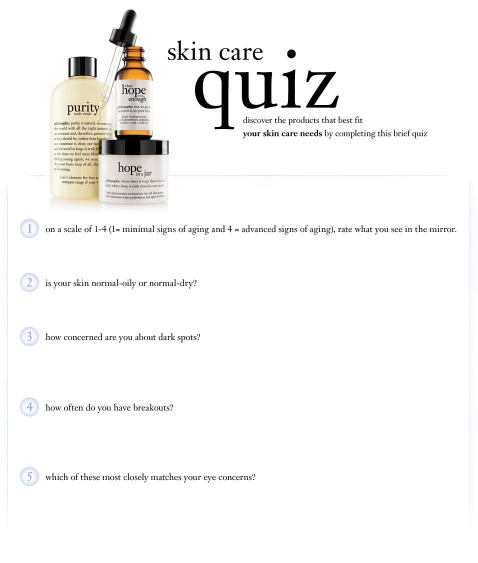 Skincare Quiz Skin Care Quiz Philosophy Skin Care Skin Quiz