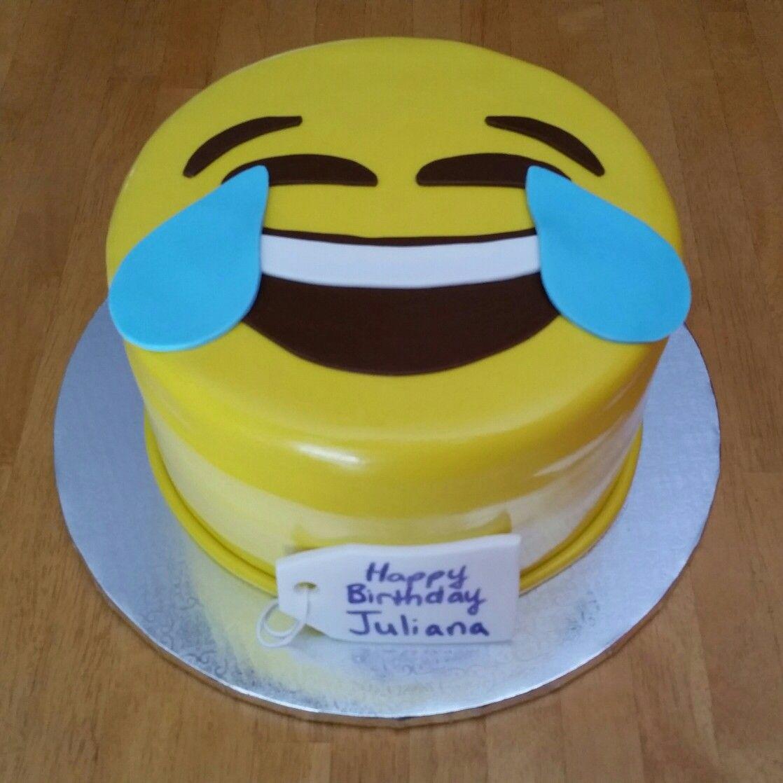 Laughing Emoji Birthday Cake