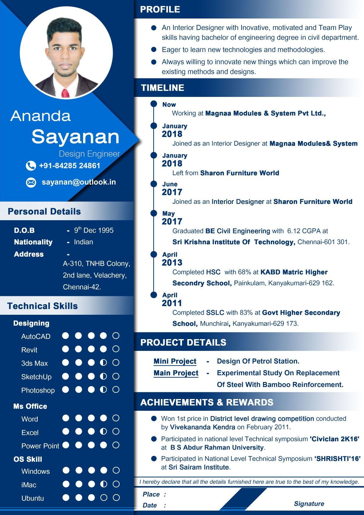 Professional Resume For Designer Curriculum Vitae Best Resume Idea Top 10 Resume Format Engineer Resume Cv Kreatif Desain Resume Desain Cv