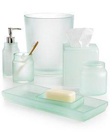 Bathroom Accessories Glass Beach Decor