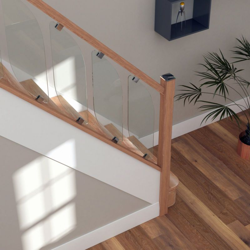 Glass Staircase Balustrade Kit Glass Stair Parts Oak Handrails Annie Sloan Pinterest