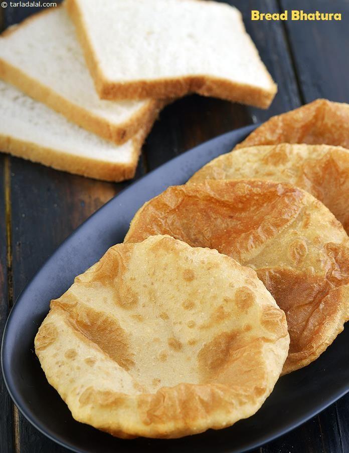 Bread Bhatura, No Yeast Bhatura | Recipe in 2019 | Bhatura ...