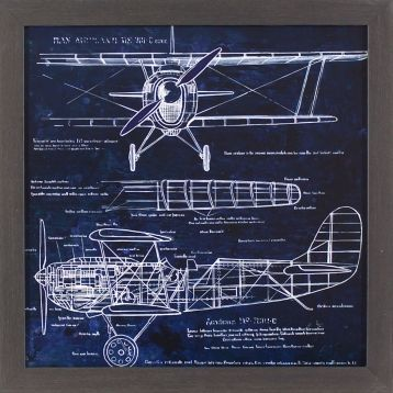 Airplane blueprint framed art print room walls and house airplane blueprint framed art print malvernweather Gallery