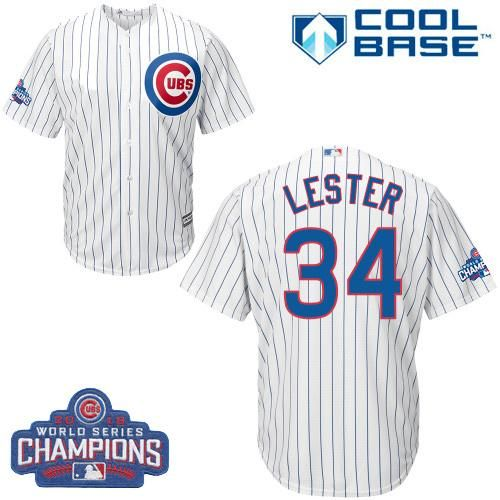 4404db8d0c4 ... low price cubs 34 jon lester white home 2016 world series champions  stitched youth mlb jersey