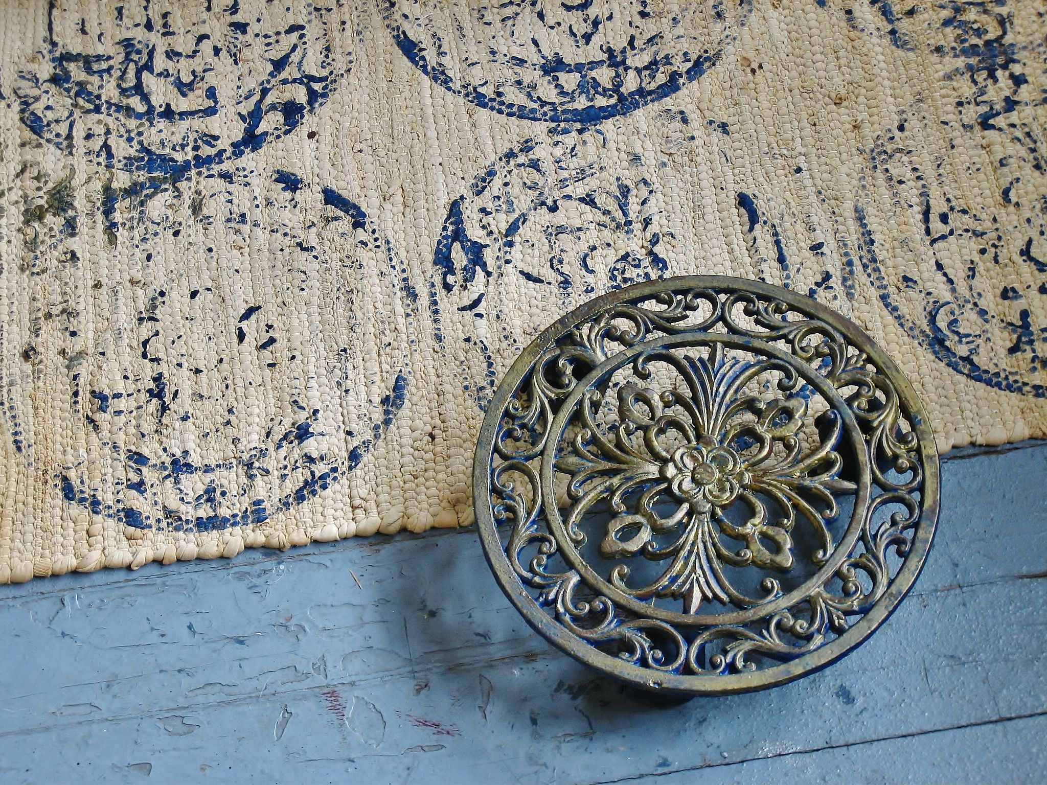 Use This On A Cheap Walmart Beige Rug With My Colors Painting Stamping Diy Moroccan Rug