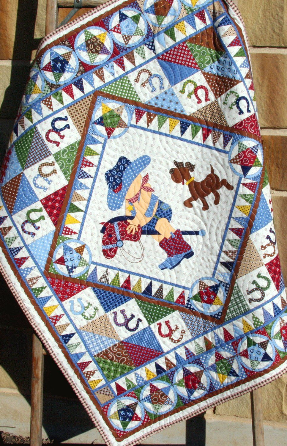 Cowboy Quilt Western Bandana Boy Blanket By Sunnysidedesigns2 Cowboy Quilt Horse Quilt Boys Quilt Patterns