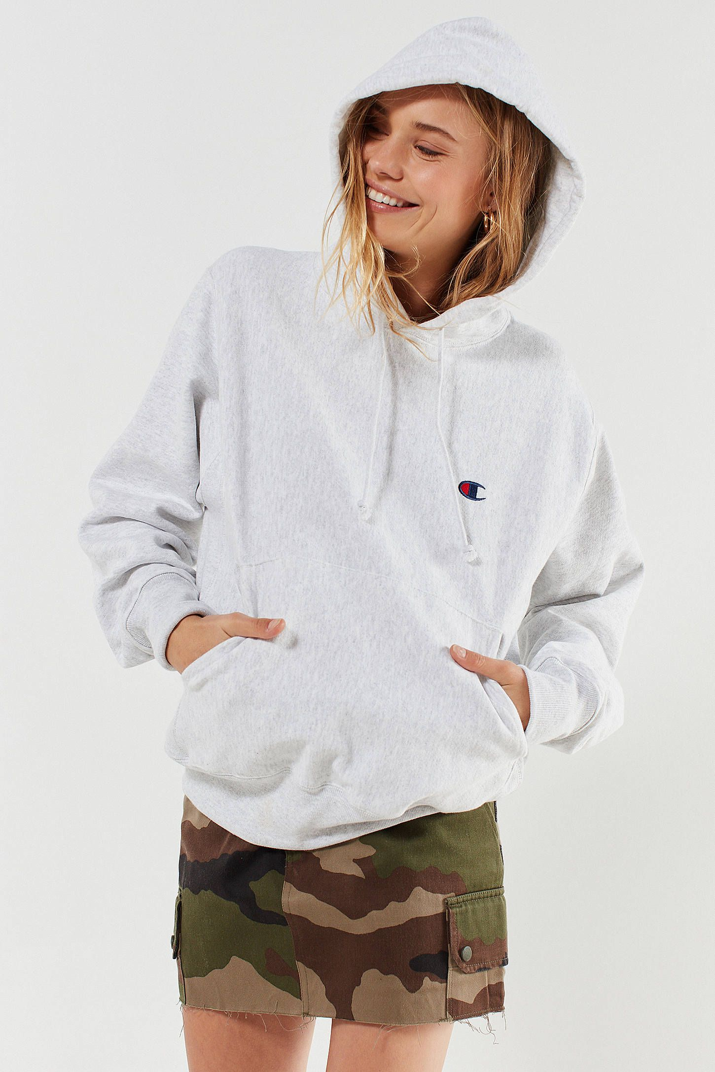 ca4705205f19 champion urban outfitters reverse weave hoodie in rose Sale