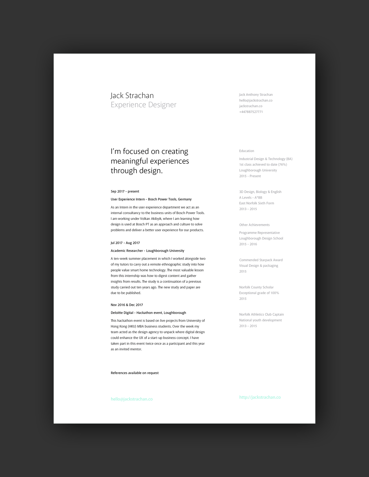 21 Inspiring Ux Designer Resumes And Why They Work Graphic Design Resume Graphic Design Cv Resume Design