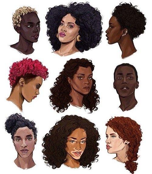 Black Hair Ref Black Art Natural Hair Art Black Girl Art
