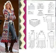 Lang Vest Knitting And Crochet Pinterest Gehaakte Kleding