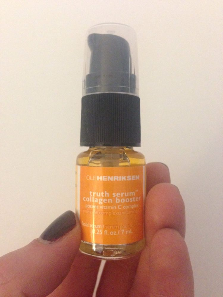 OLE HENRIKSEN Truth Serum Vitamin C Collagen Booster .25 fl. oz. Travel Pump NEW #OleHenriksen