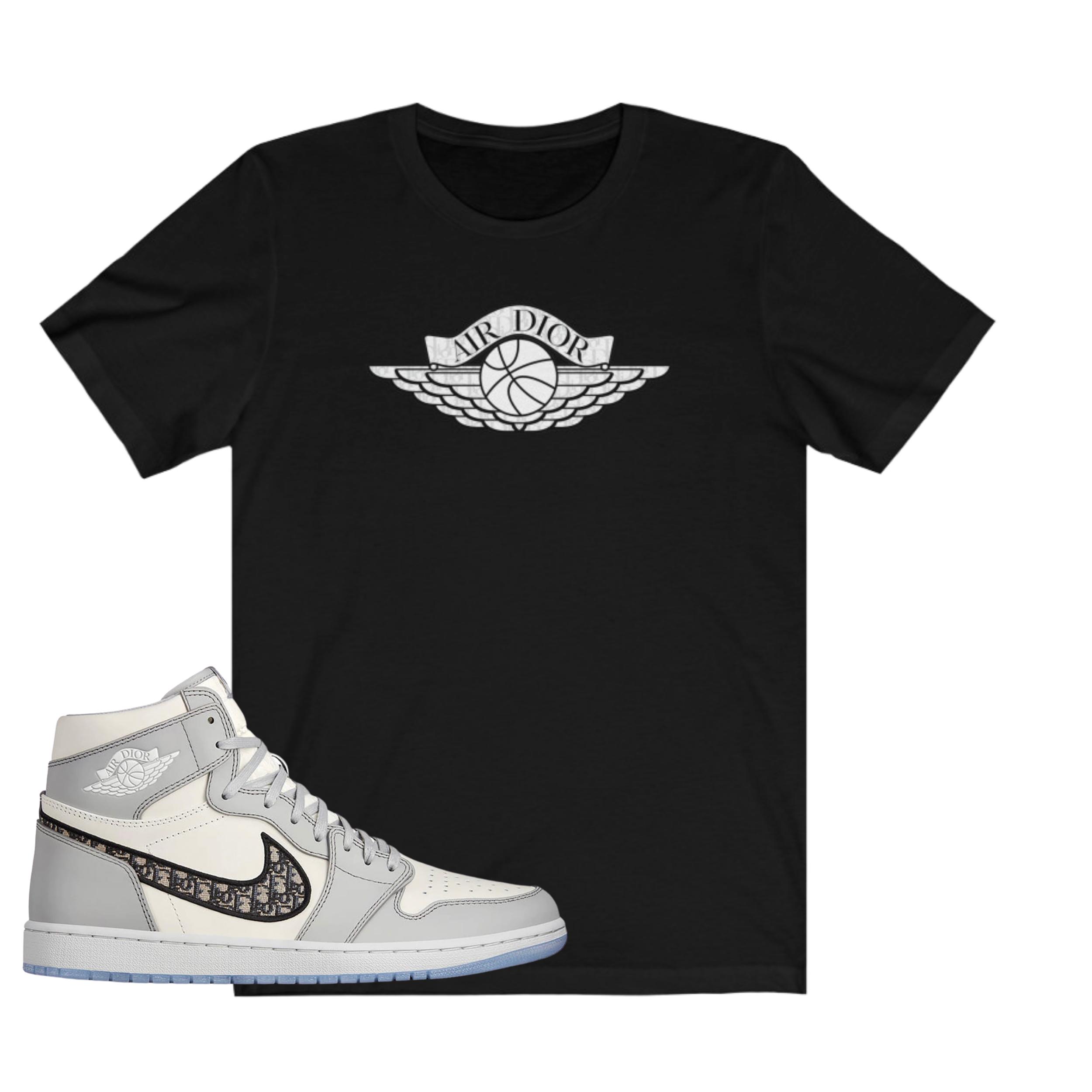 Jordan Air Dior Matching Shirts By Kim Jones Sneakers Match Tee Sneaker Match Tees Sneaker Match Jordan Shirts
