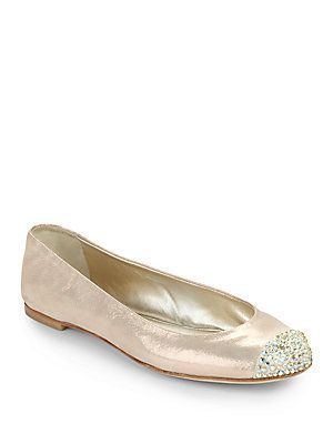 66fd23545ecbb Giuseppe Zanotti Crystal Cap Toe Suede Ballet Flats. Beautiful ...