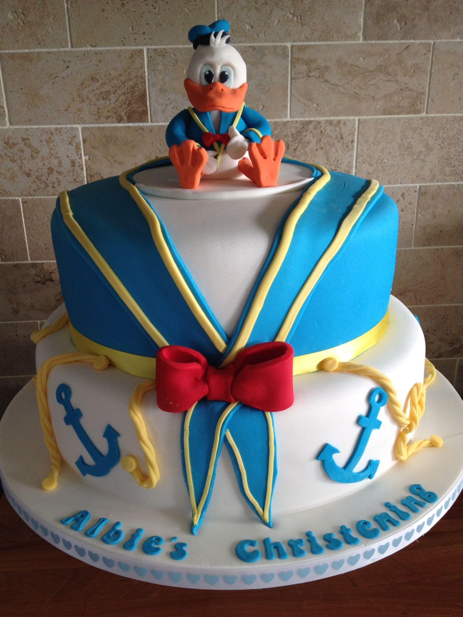 Donald Duck Christening Cake Kanyon Is Turning 3 Cake