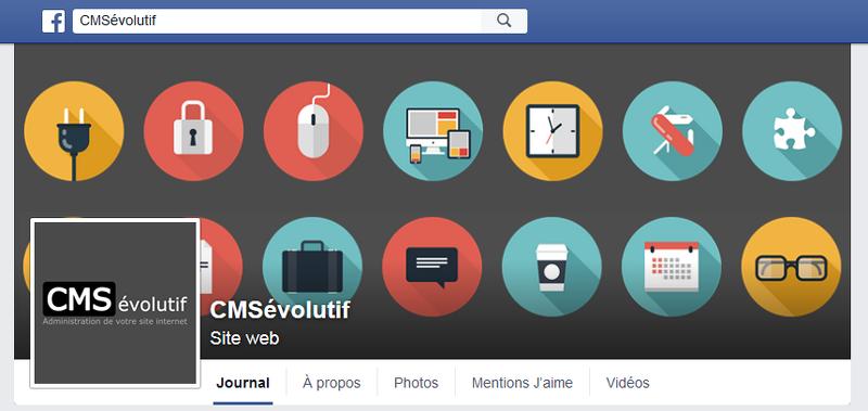 Pour pouvoir mettre en avant le CMSévolutif, nous avons décidé de mettre en place une page Facebook dédiée : http://www.cms-evolutif.com/actualites/articles/le-cmsevolutif-sur-facebook-8.html