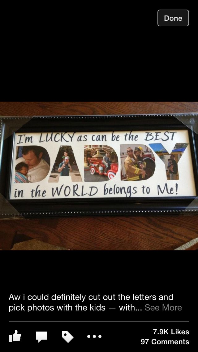 Christmas Gifts For Dad Ideas.Cut Out Letters And Choose Fotos Birthday Ideas Father S