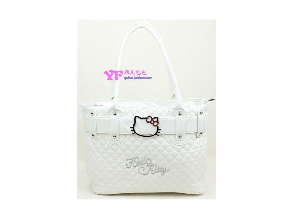 Large capacity hello kitty bag women's handbag cartoon handbags bolsas hello kitty quilted diamond lattice bags sac femme