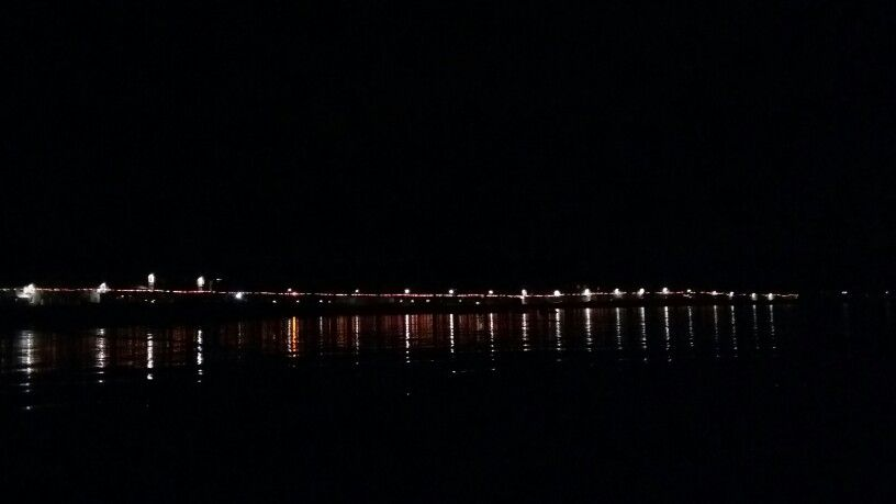 Millport at night.