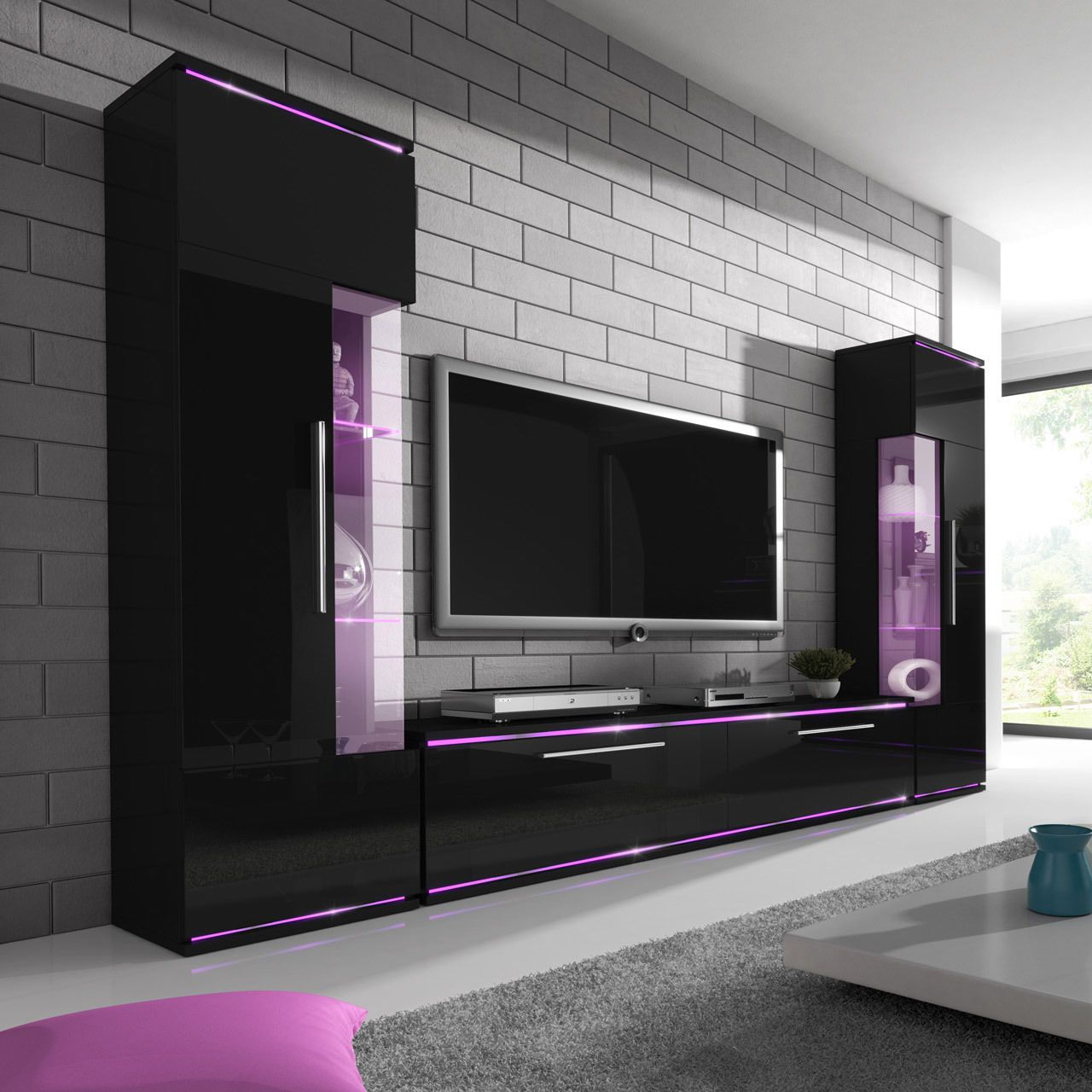 Wall Unit LEE! Brand New Modern Set of Living room Furniture ...
