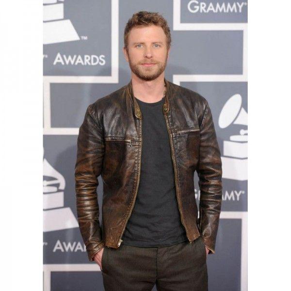 Celebrity Jacket-Dierks Bentley Dark Brown Grammy Awards Leather Jacket